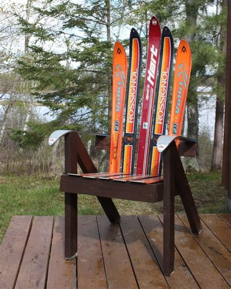 make adirondack chair from skis build a lawn chair from recycled skis the ski chair