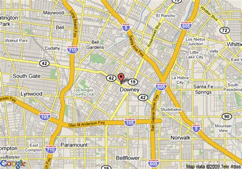 map of embassy suites hotel los angeles downey downey