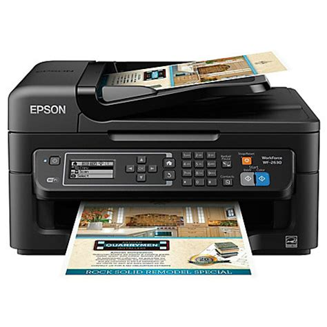 Printer Epson Els Computer epson workforce wf 2630 wireless color inkjet all in one printer copier scanner fax by office