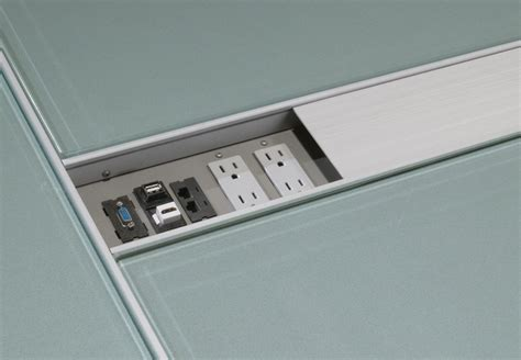 Conference Table Power Outlets by Power Options For Modern Conference Tables Stoneline Designs