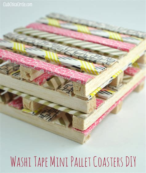 mini craft projects washi mini wood pallet diy coasters washi crafts