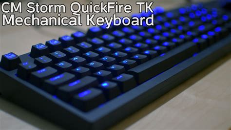 Cooler Master Gaming Keyboard Quickfire Tk Blue cooler master cm quickfire tk mechanical keyboard cherry mx blue