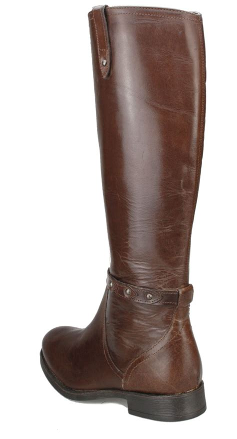 brown leather knee high boots with heel real leather knee high black or brown block heel