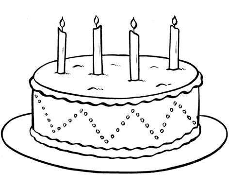 How To Decorate A Birthday Cake At Home by Colour Drawing Free Wallpaper Birthday Cake Printable
