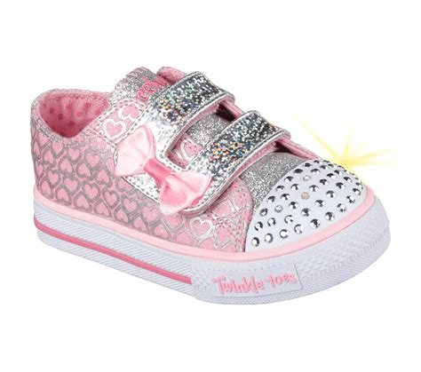 twinkle toes light up shoes skechers girls light ups twinkle toes pink 10576