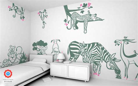 chambre enfant savane e glue trends in room decor
