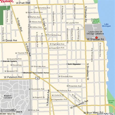 loyola chicago map map to loyola