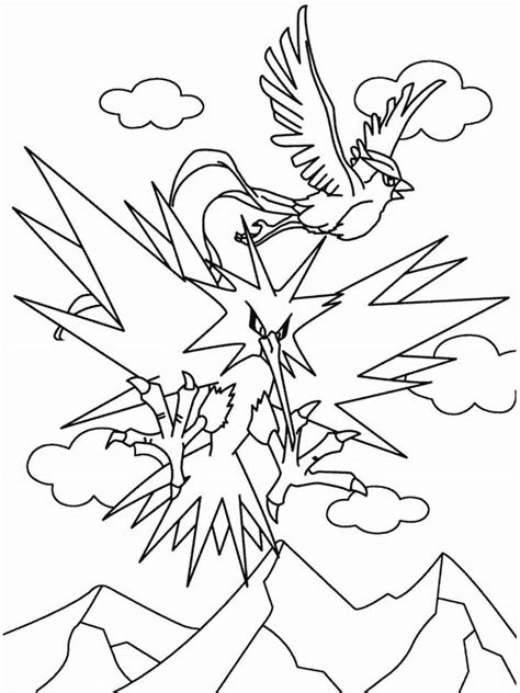 pokemon coloring pages articuno articuno pokemon flying 57805 notefolio