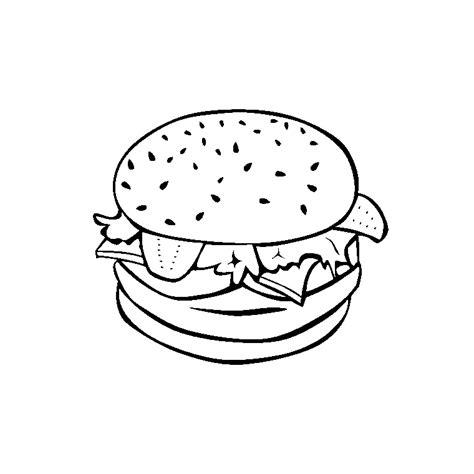 Coloriage Hamburger A Imprimer Gratuit
