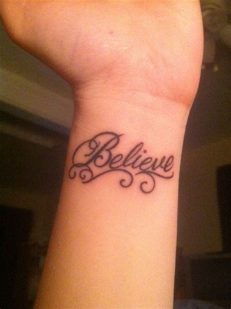 tattoo e wrist believe wrist tattoo tattoos pinterest what i want