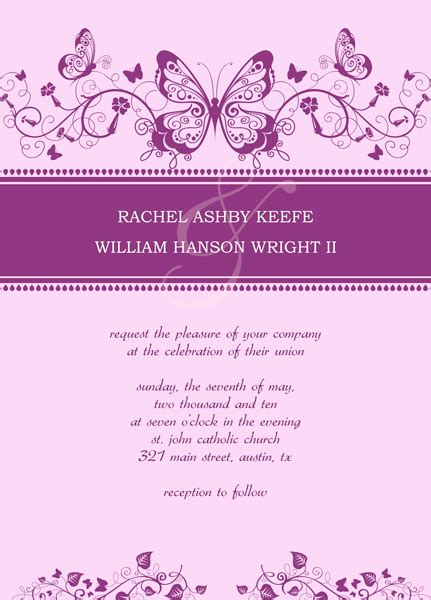 wedding invitation designs templates free wedding invitations