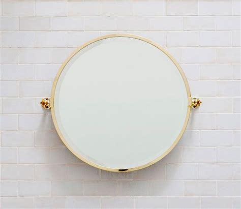 brass bathroom mirrors hanbury round bathroom mirror in brass balineum