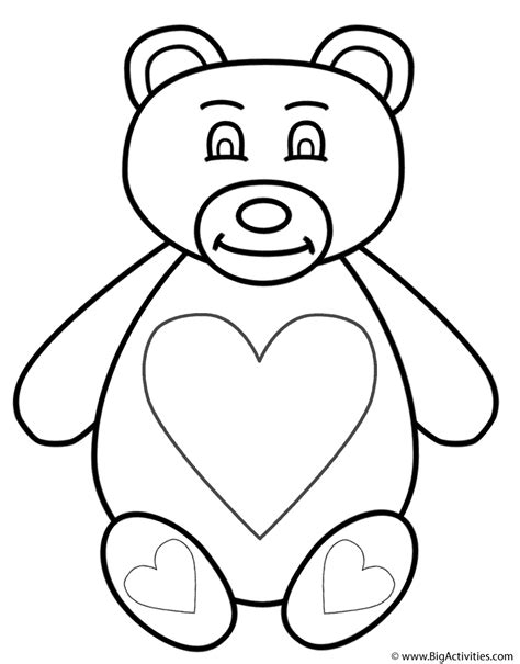 coloring pages of teddy bears with hearts teddy bear with hearts coloring page animals