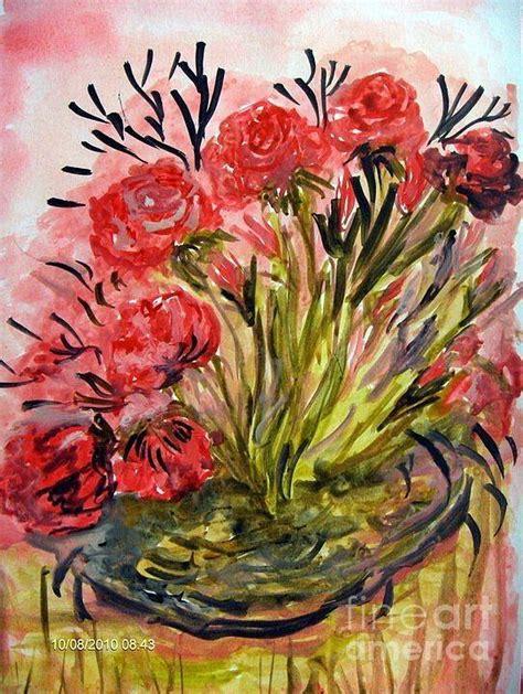 art dinca roses painting by farfallina art gabriela dinca