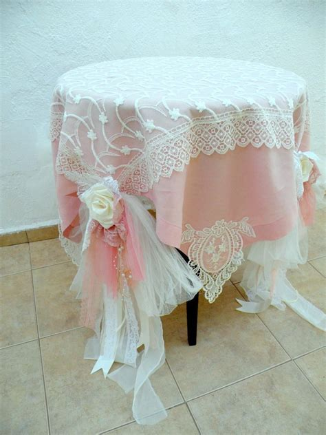 shabby chic table cloths shabby chic wedding tablecloth dusty pale pink ivory