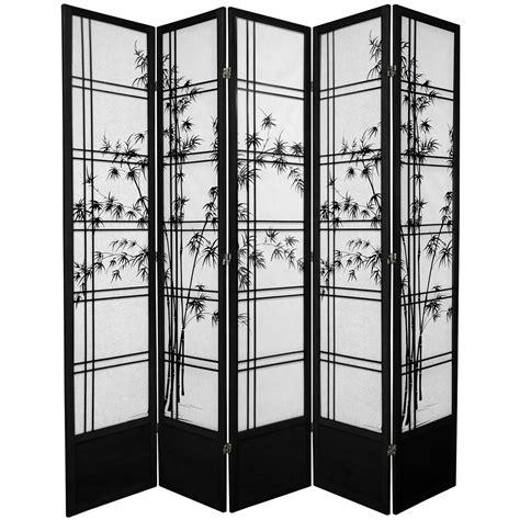 5 panel room divider 7 ft black 5 panel room divider 84dxbt blk 5p the home