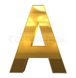 letter a from gold with gold frame alphabet set isolated