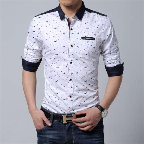 2019 wholesale sleeve shirt casual slim fit cotton printed black white shirt