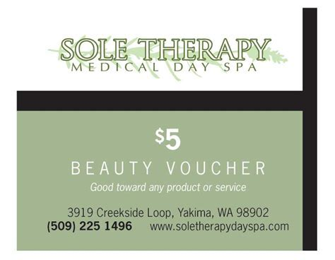 Client Incentives   Yakima Spa Voucher   $5 discount on