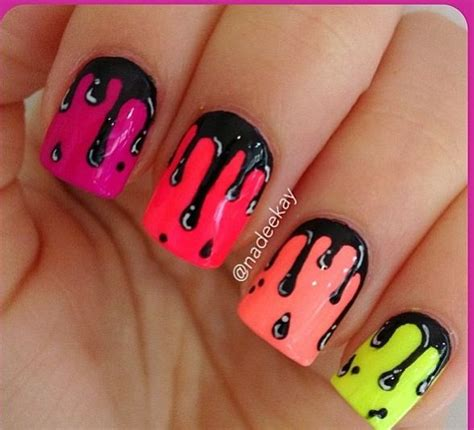 Nail Nail Paint by Neon Paint Drip Nail Clothing Make Up And Hair