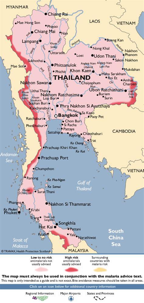malaria map malaria in isaan