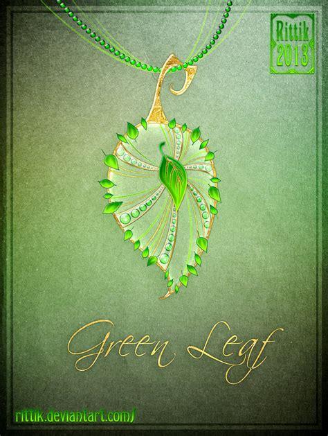 design art antioch ca amulet green leaf by rittik on deviantart