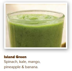 Island Green Detox Smoothie Calories by Sland Smoothie