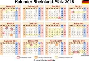 Kalender 2018 Zum Ausdrucken Mit Ferien Rlp Kalender 2018 Rheinland Pfalz Ferien Feiertage Excel