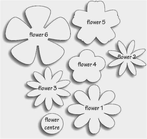 paper cut out templates flowers 10 best images of paper flower templates paper flower