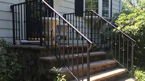 Outside Stair Railing Exterior Wrought Iron Railings Outdoor Wrought Iron