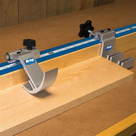 kreg table saw fence kreg precision trak stop kit saw accessories cutting