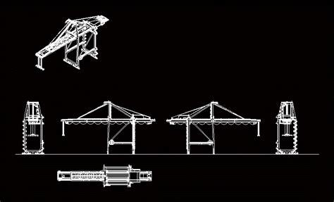 port crane mhi  dwg elevation  autocad designs cad