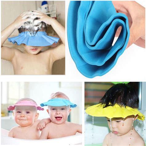 bath shower cap baby children safe shoo bath bathing shower cap