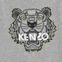 kenzo grey tiger sweatshirt childrensalon