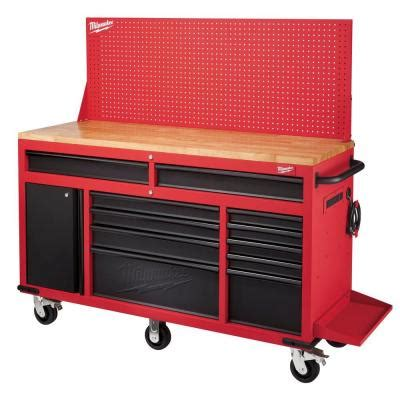milwaukee saw bench milwaukee 60 in 11 drawer and 1 door 22 in d mobile