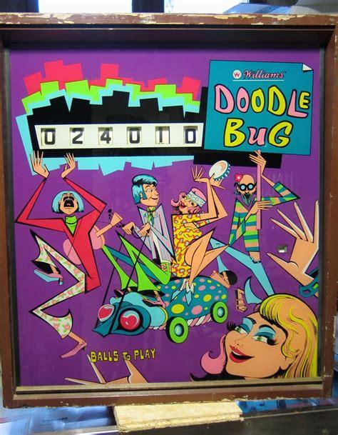 doodlebug pinball doodle bug early production backglass pinball arcade