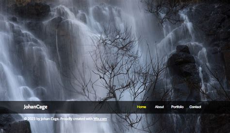 landscape photographer wix template wix photography template
