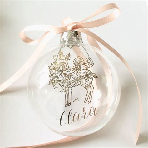 baubles with names deer with personalised name bauble by libby