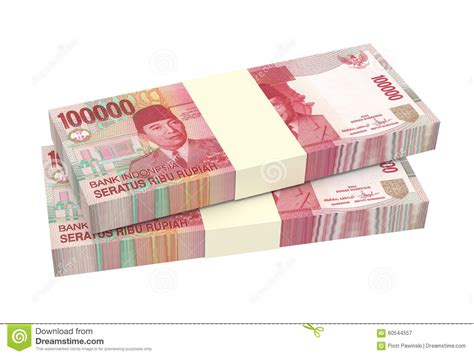 currency idr rupiah money isolated on white background