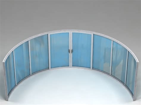 Curved Glass Balcony Systems Curved Glass Door