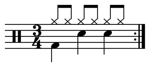Drum Pattern Triple Time | drum beat wikipedia