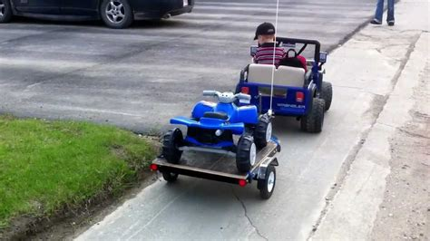 power wheels jeep with built trailer
