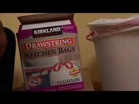 Kirkland Signature Drawstring Kitchen Trash Bags 13 Gallon by Kirkland Signature Drawstring Kitchen Trash Bags 13
