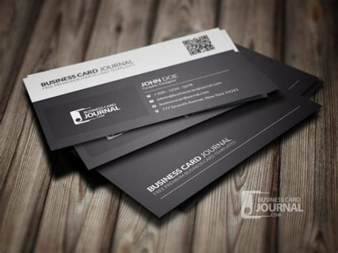 Black And White Business Card Template Psd File Free Download Black And White Card Templates