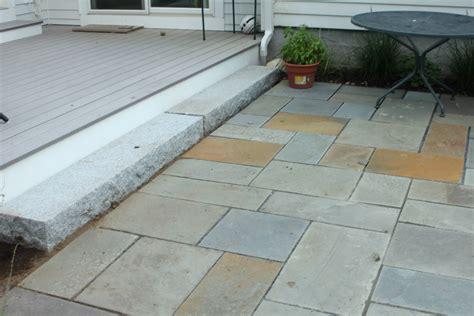 Laid Bluestone Patio by Concord Ma Concord Stoneworks