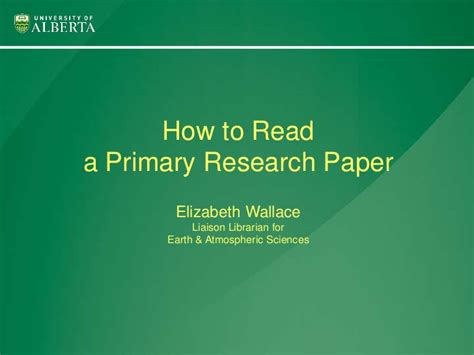 primary research paper how to read a primary research paper
