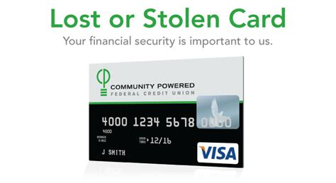 community bank lost debit card lost or stolen card from community powered federal credit