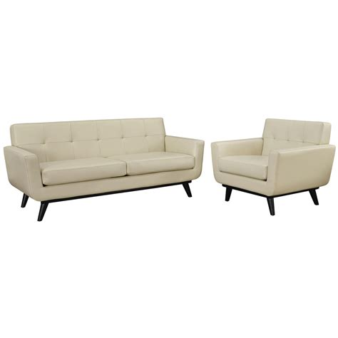 beige leather living room set engage contemporary 2pc button tufted leather living room
