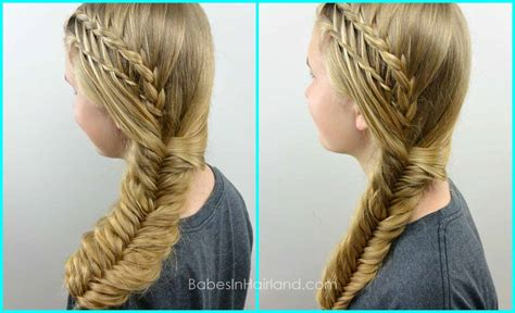 hair braid that looks like feathers feather braided fishtail combo babes in hairland