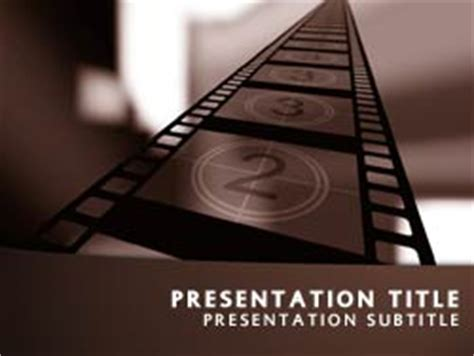 templates powerpoint cinema royalty free movie powerpoint template in orange